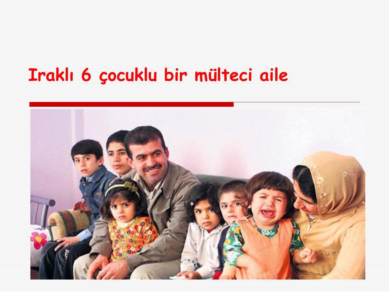 Iraklı 6 çocuklu bir mülteci aile