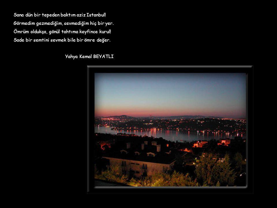 Sana dün bir tepeden baktım aziz Istanbul!