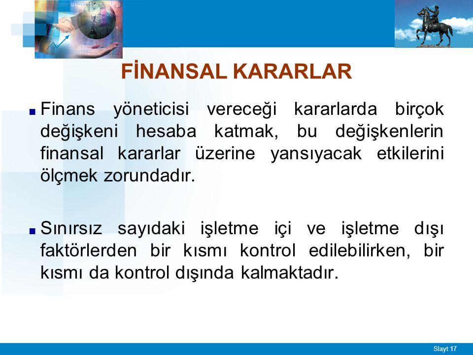 Finans Fonksiyonunu Etkileyen Faktörler