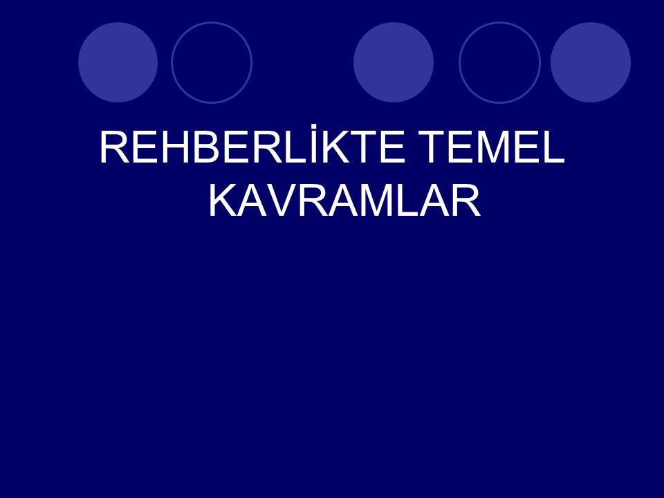REHBERLİKTE TEMEL KAVRAMLAR