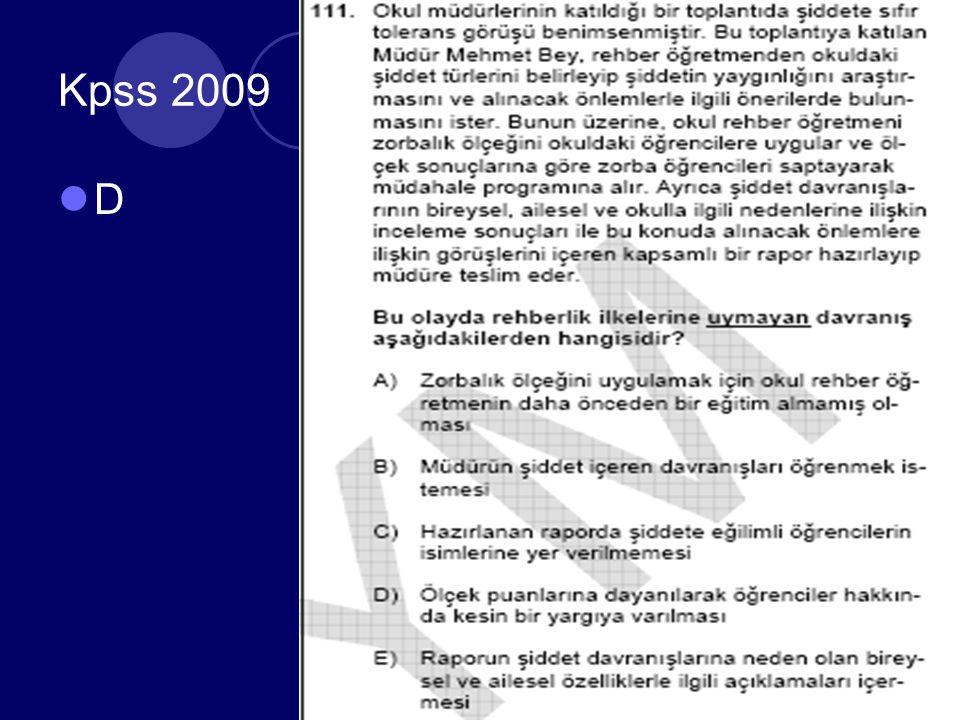 Kpss 2009 D