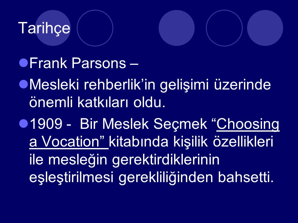 Tarihçe Frank Parsons –