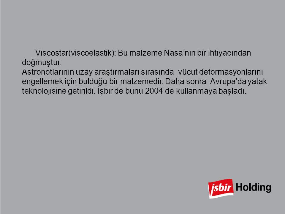 Viscostar(viscoelastik): Bu malzeme Nasa'nın bir ihtiyacından doğmuştur.