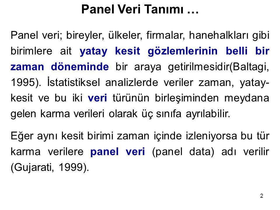 Panel Veri Tanımı …