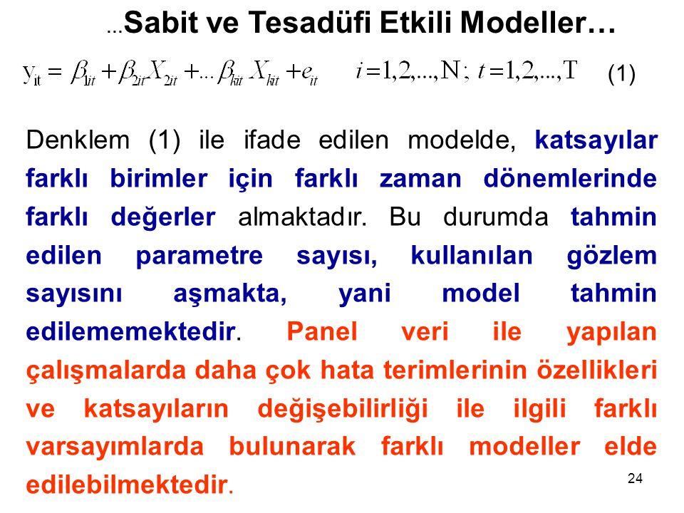 …Sabit ve Tesadüfi Etkili Modeller…