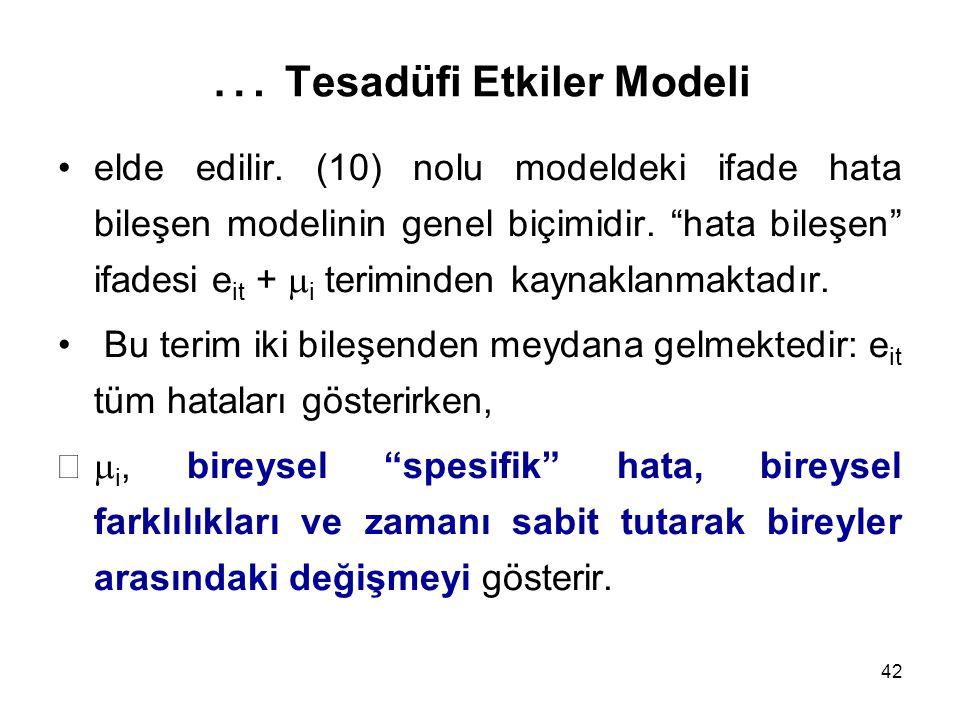 … Tesadüfi Etkiler Modeli
