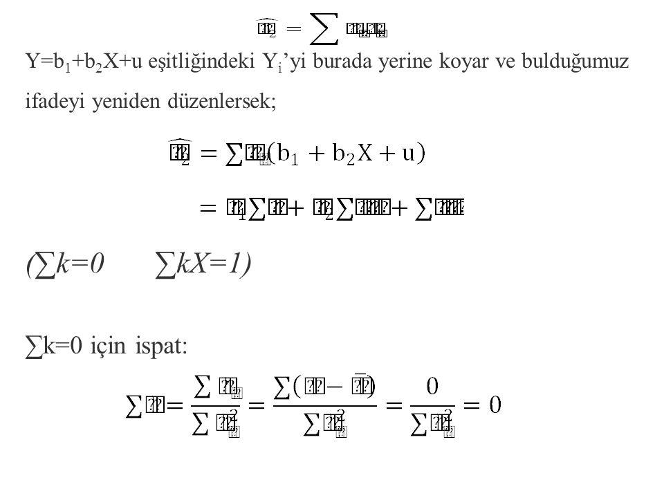 (∑k=0 ∑kX=1) ∑k=0 için ispat: