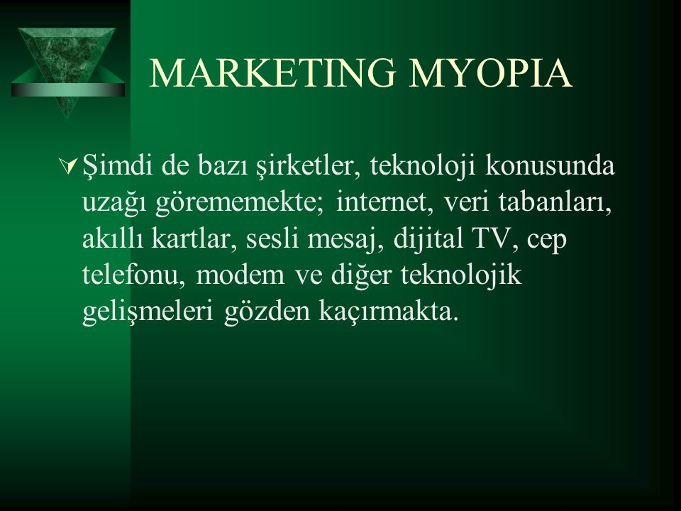 MARKETING MYOPIA