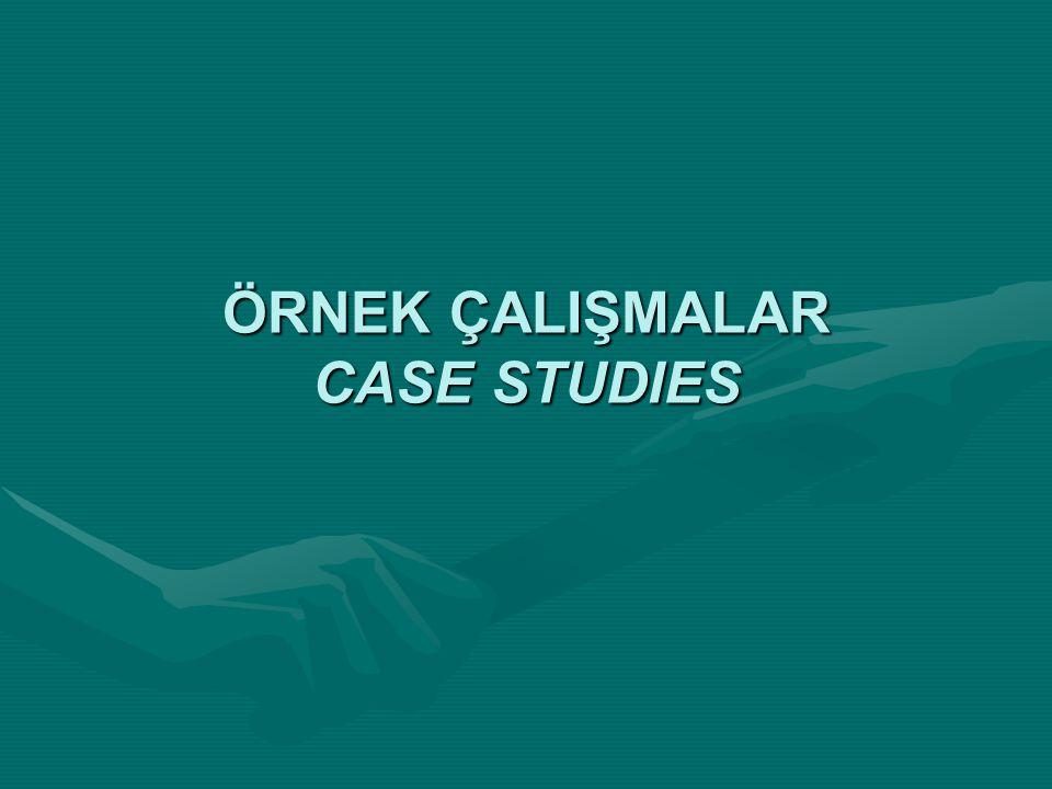 ÖRNEK ÇALIŞMALAR CASE STUDIES