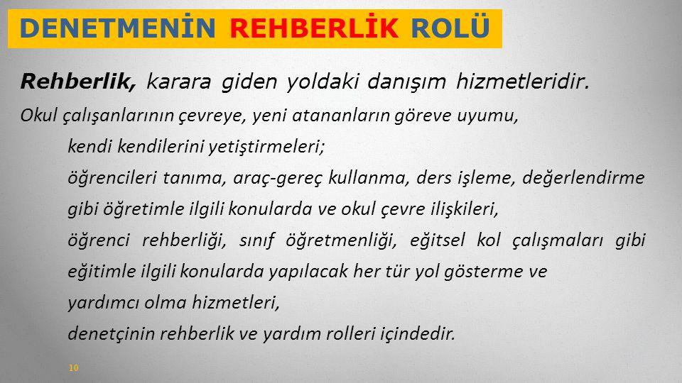 DENETMENİN REHBERLİK ROLÜ