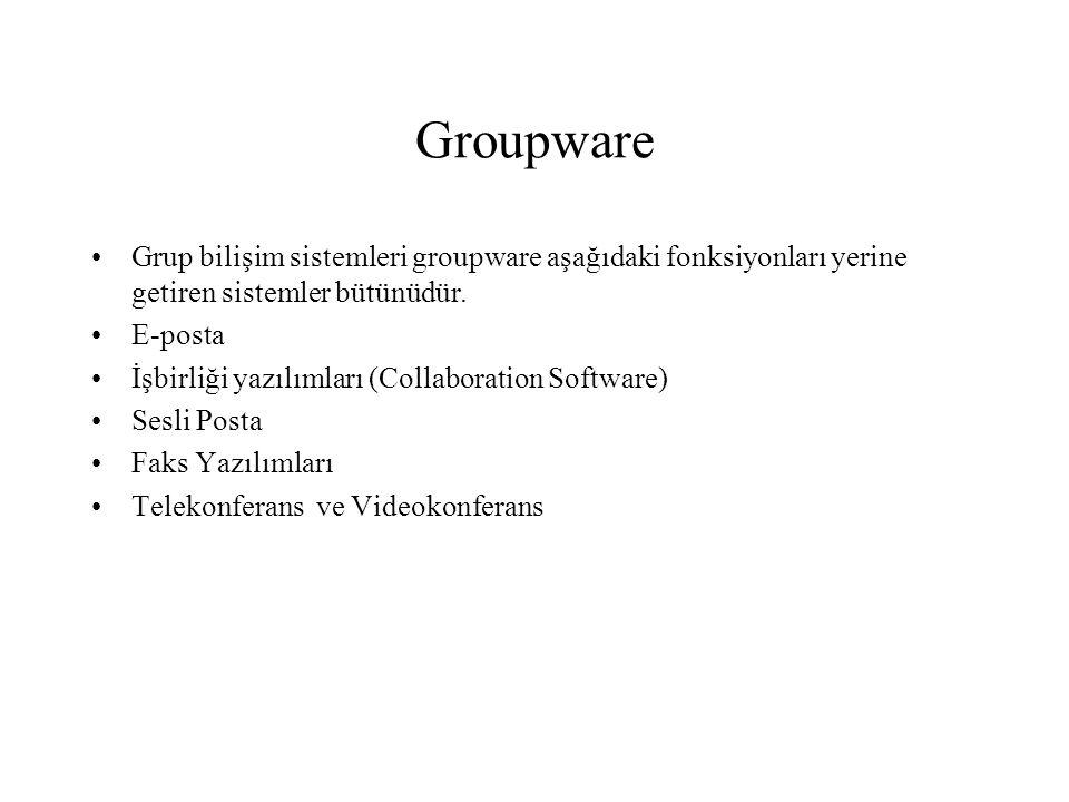 Groupware Grup bilişim sistemleri groupware aşağıdaki fonksiyonları yerine getiren sistemler bütünüdür.