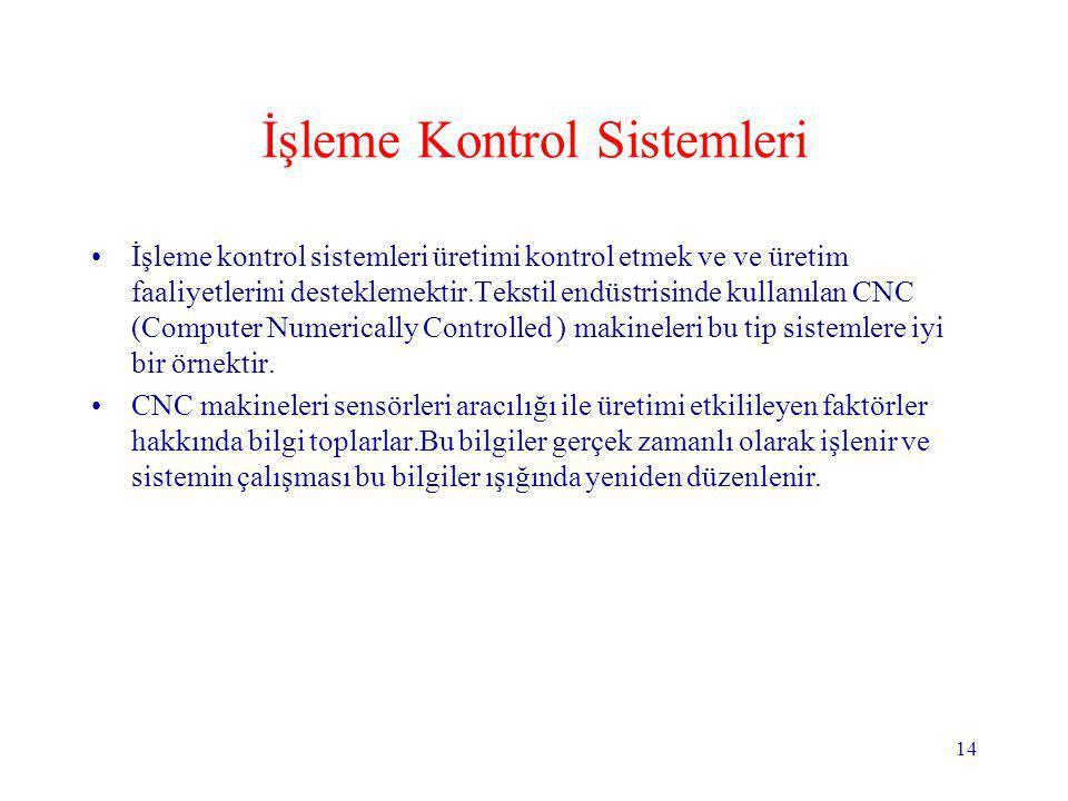 İşleme Kontrol Sistemleri