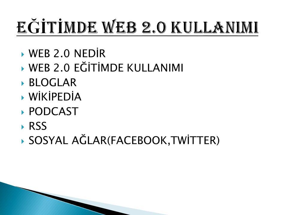 EĞİTİMDE web 2.0 KULLANIMI