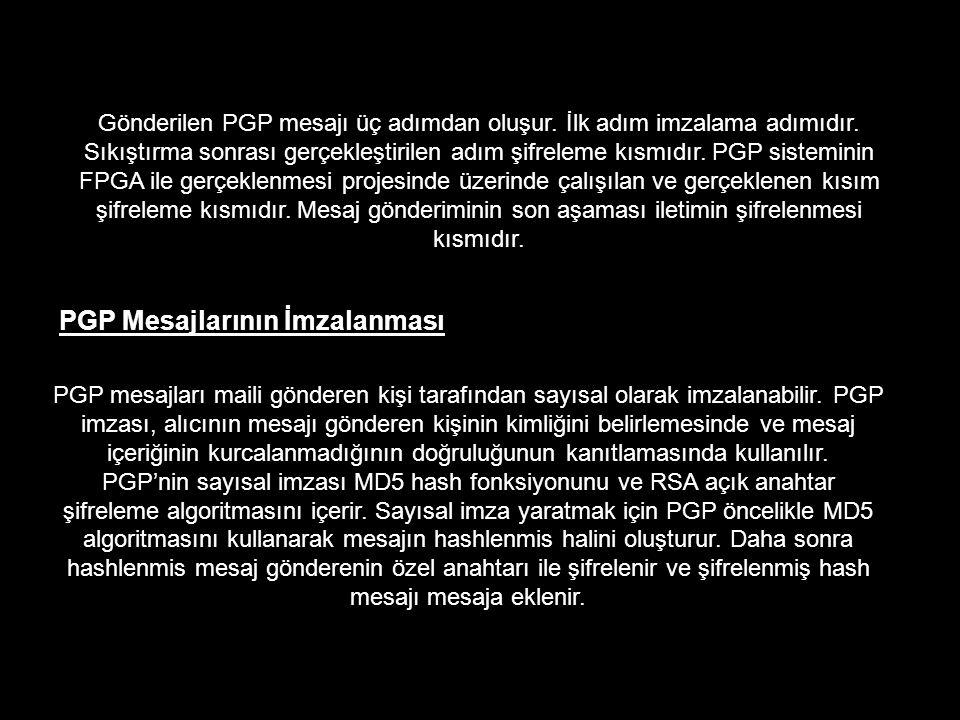 PGP Mesajlarının İmzalanması