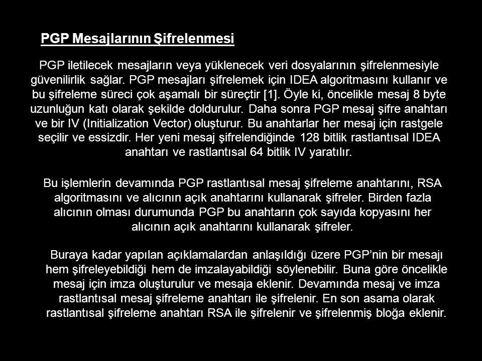 PGP Mesajlarının Şifrelenmesi