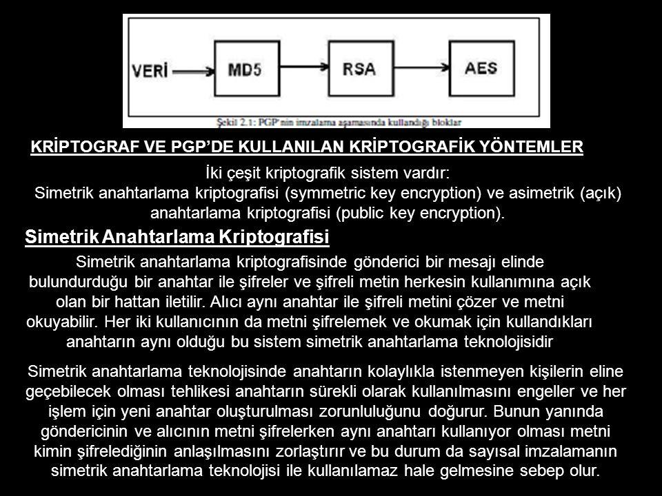 İki çeşit kriptografik sistem vardır: