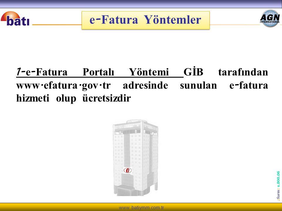e-Fatura Yöntemler 1-e-Fatura Portalı Yöntemi GİB tarafından www.efatura.gov.tr adresinde sunulan e-fatura hizmeti olup ücretsizdir.