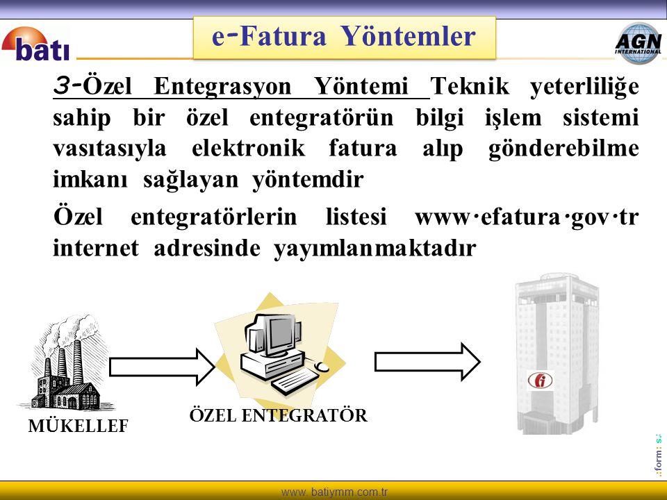 e-Fatura Yöntemler