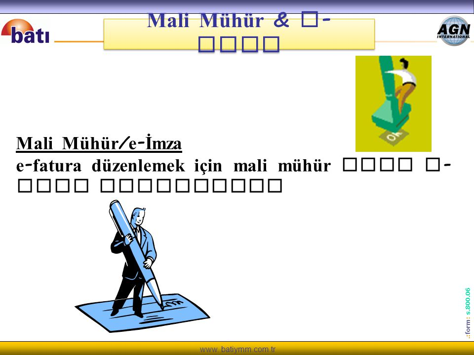 Mali Mühür & e-imza Mali Mühür/e-İmza