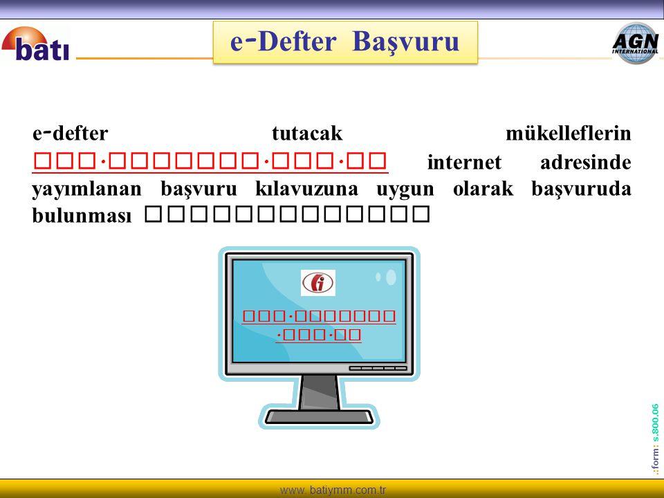 e-Defter Başvuru