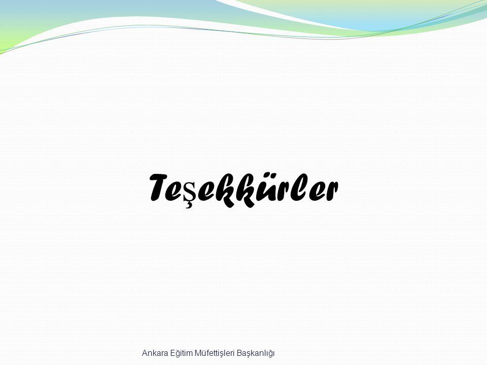 Teşekkürler Ankara Eğitim Müfettişleri Başkanlığı