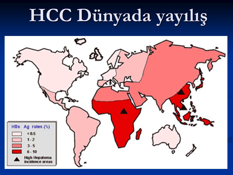 HCC Dünyada yayılış