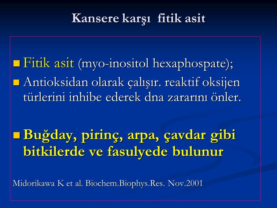 Kansere karşı fitik asit