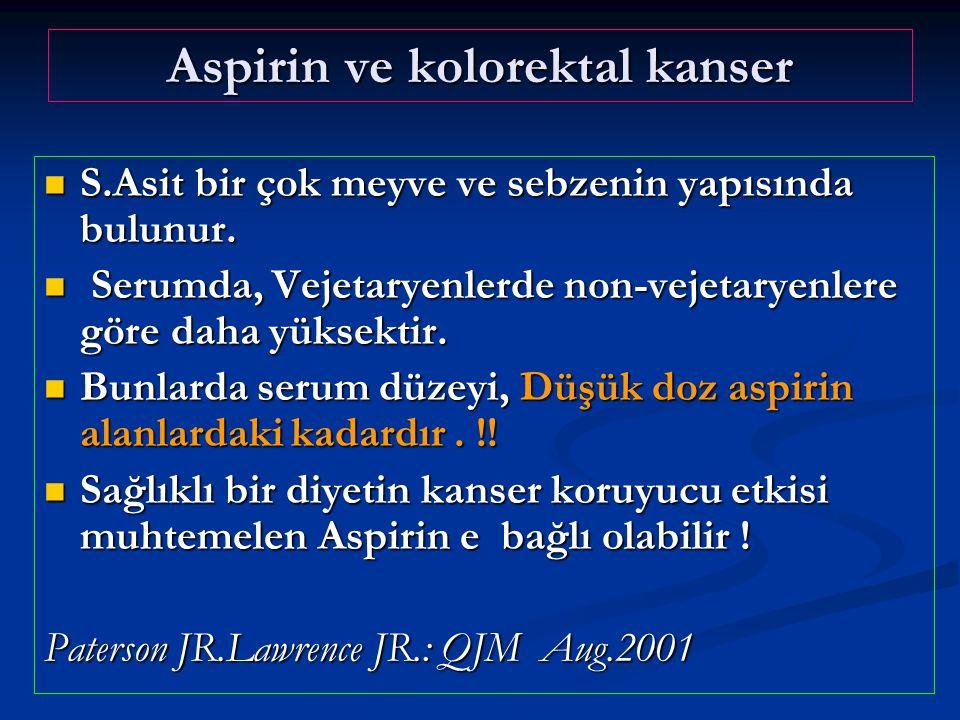 Aspirin ve kolorektal kanser