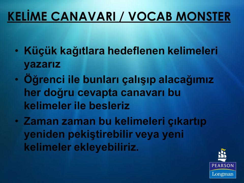 KELİME CANAVARI / VOCAB MONSTER
