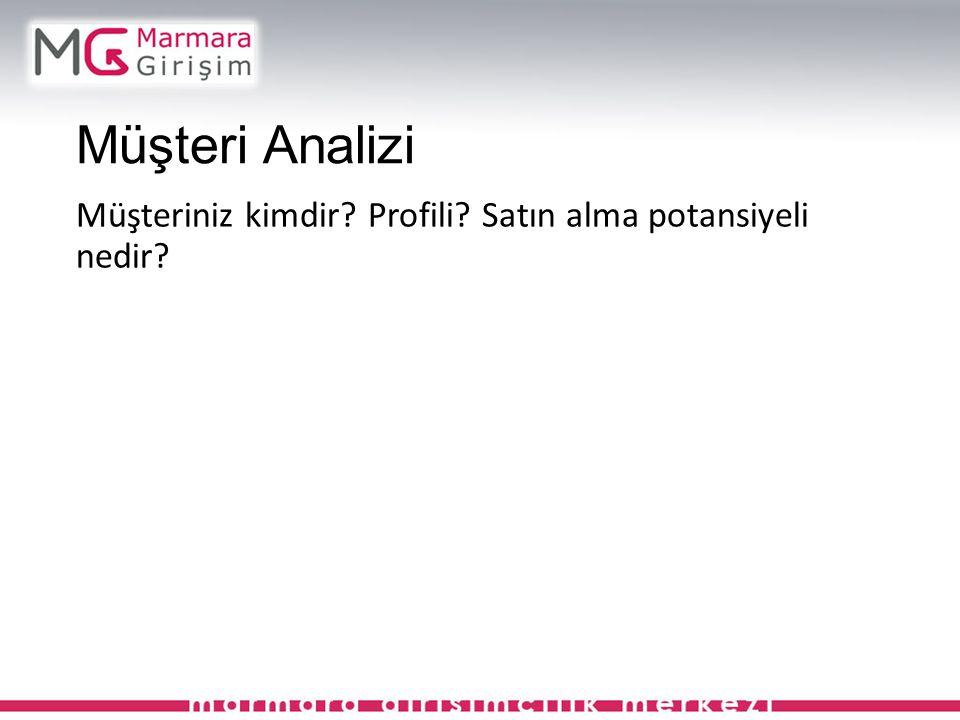 Müşteri Analizi Müşteriniz kimdir Profili Satın alma potansiyeli nedir