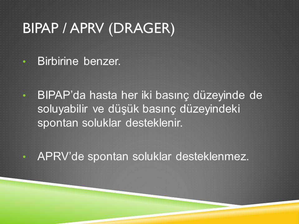 BIPAP / APRV (DRAGER) Birbirine benzer.