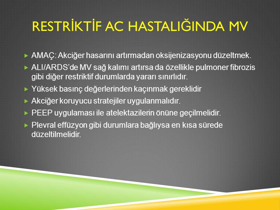 RESTRİKTİF AC HASTALIĞINDA MV