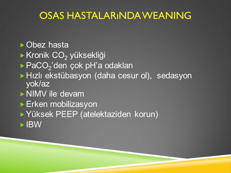 OSAS Hastalarında Weaning