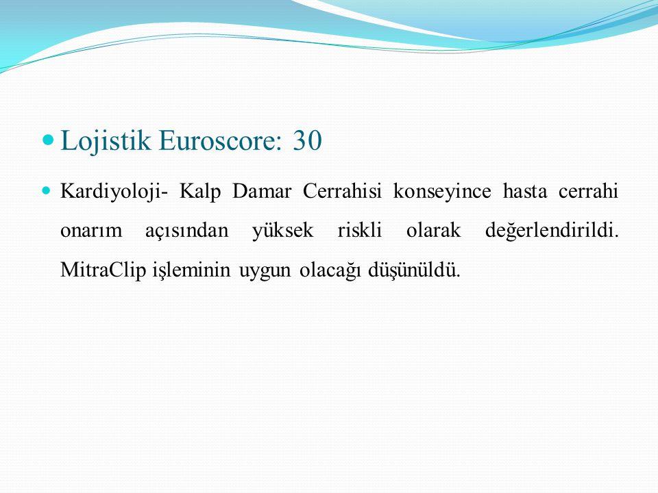 Lojistik Euroscore: 30