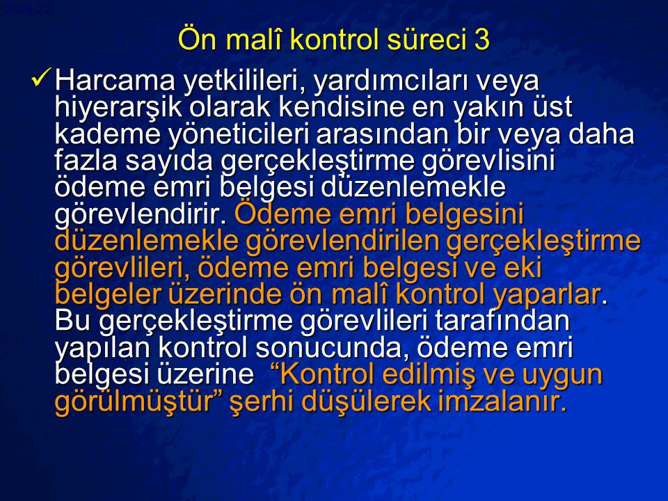 Ön malî kontrol süreci 3