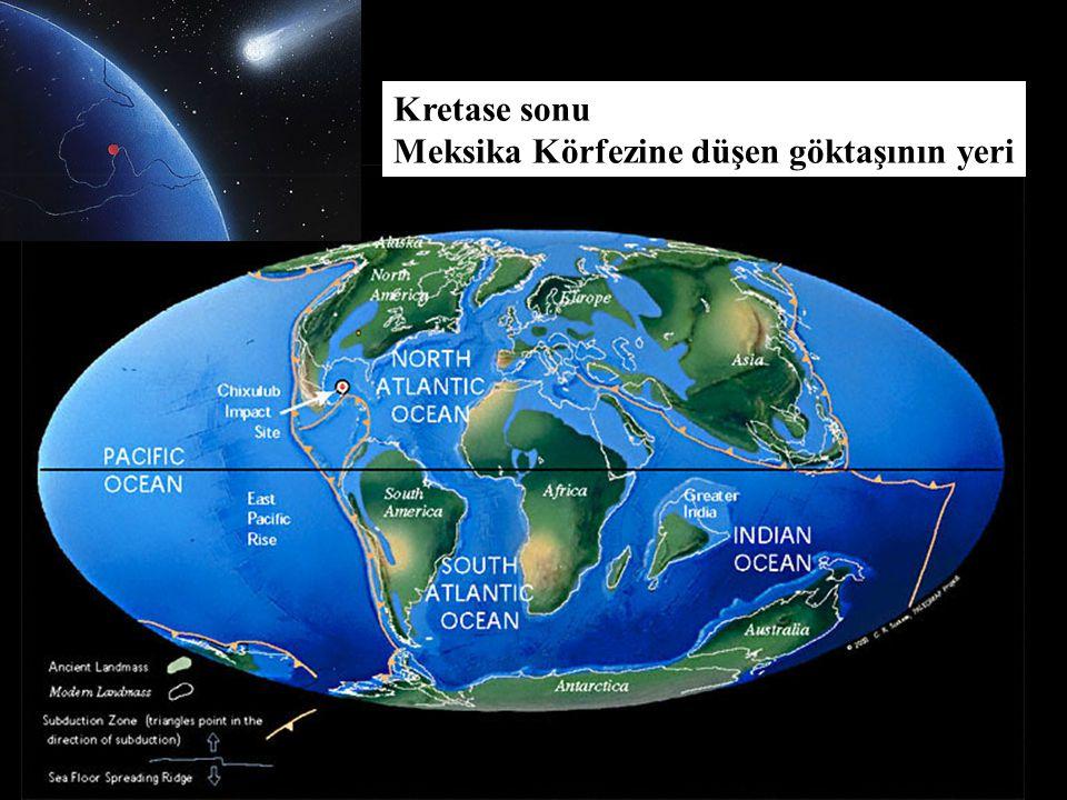 Kretase sonu Meksika Körfezine düşen göktaşının yeri