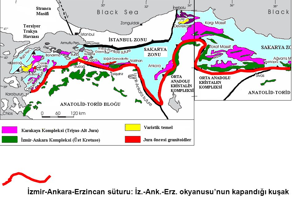 İzmir-Ankara-Erzincan süturu: İz. -Ank. -Erz
