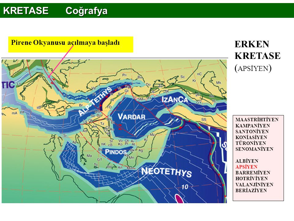 ERKEN KRETASE (APSİYEN)