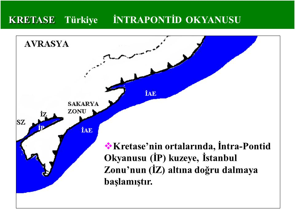 KRETASE Türkiye İNTRAPONTİD OKYANUSU