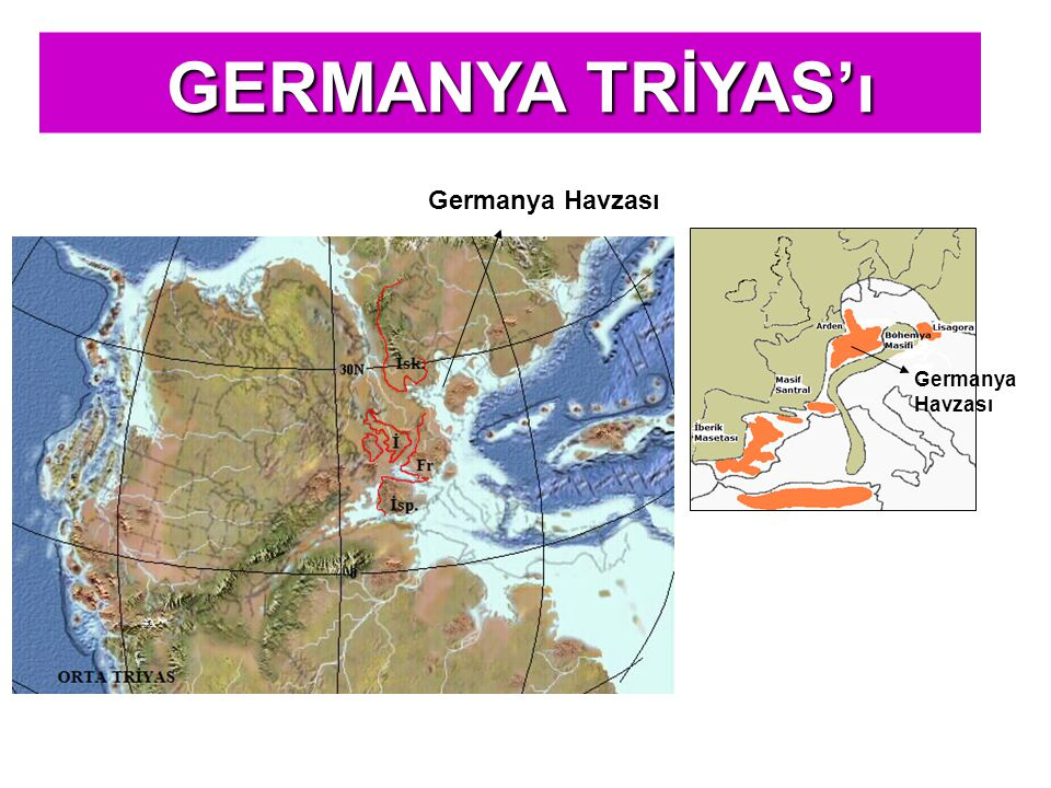 GERMANYA TRİYAS'ı Germanya Havzası Germanya Havzası