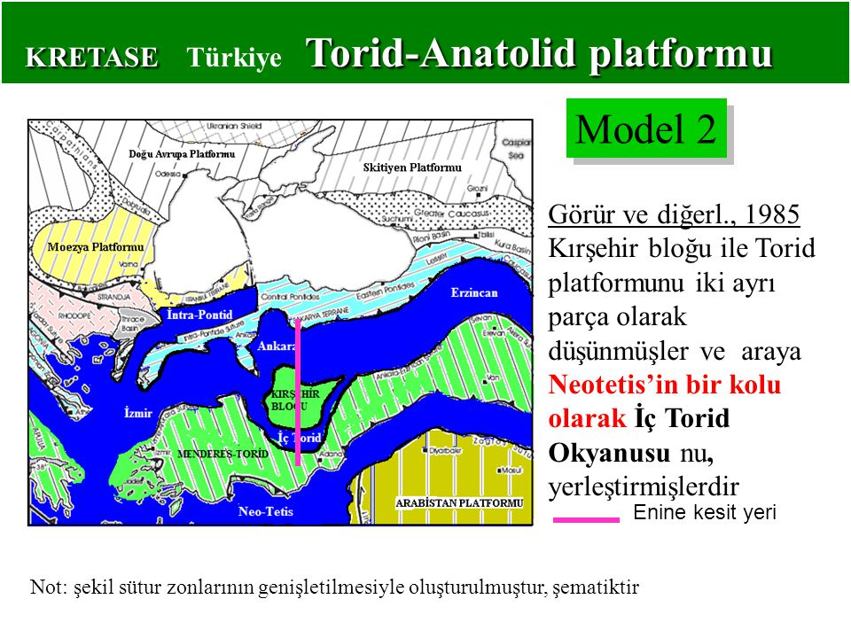 KRETASE Türkiye Torid-Anatolid platformu