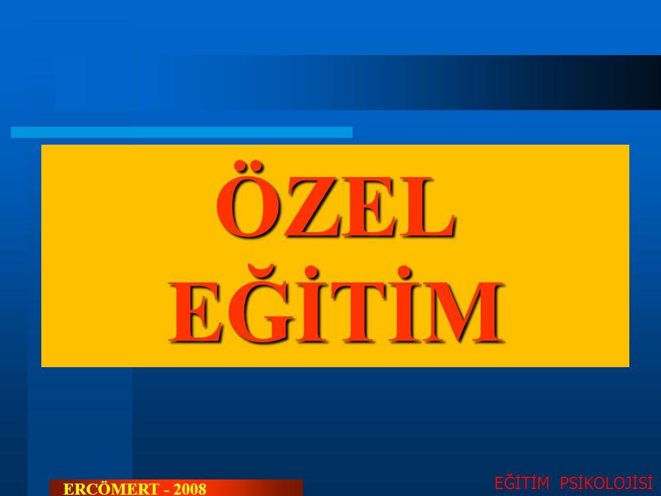 ÖZEL EĞİTİM EĞİTİM PSİKOLOJİSİ ERCÖMERT - 2008