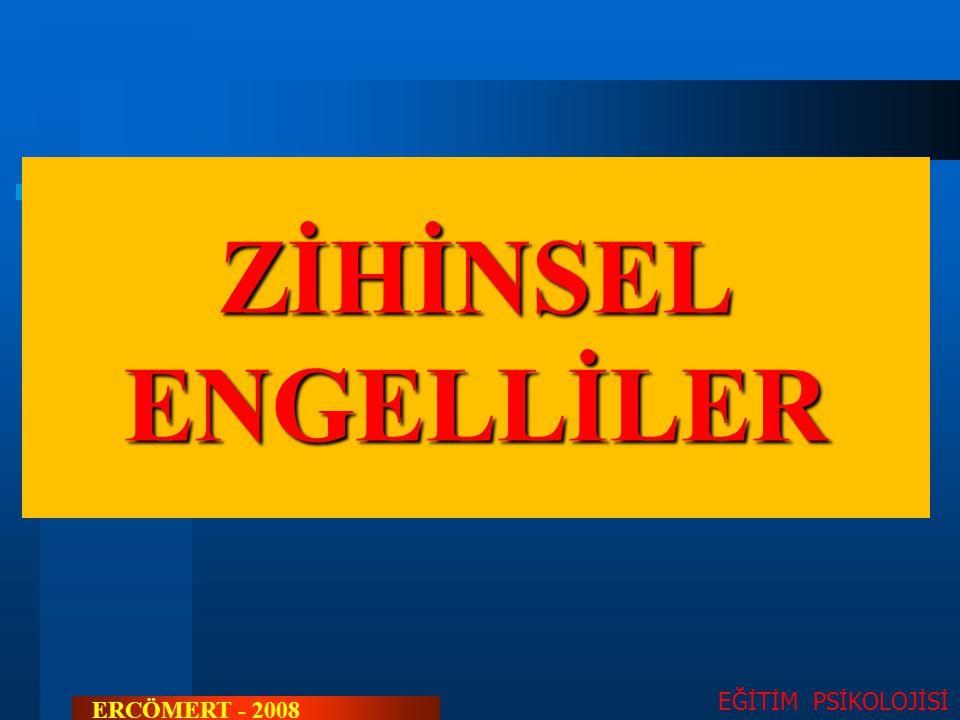 ZİHİNSEL ENGELLİLER EĞİTİM PSİKOLOJİSİ ERCÖMERT - 2008