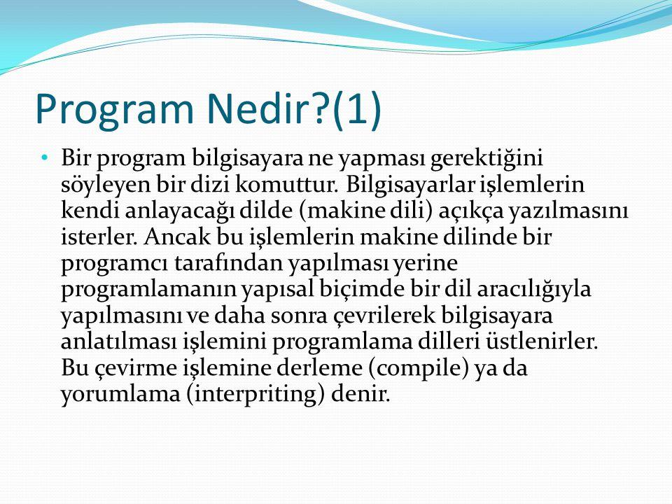Program Nedir (1)