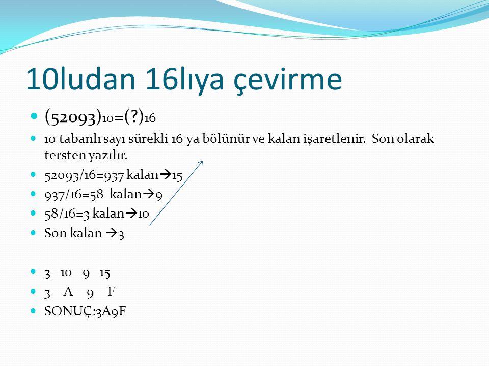 10ludan 16lıya çevirme (52093)10=( )16