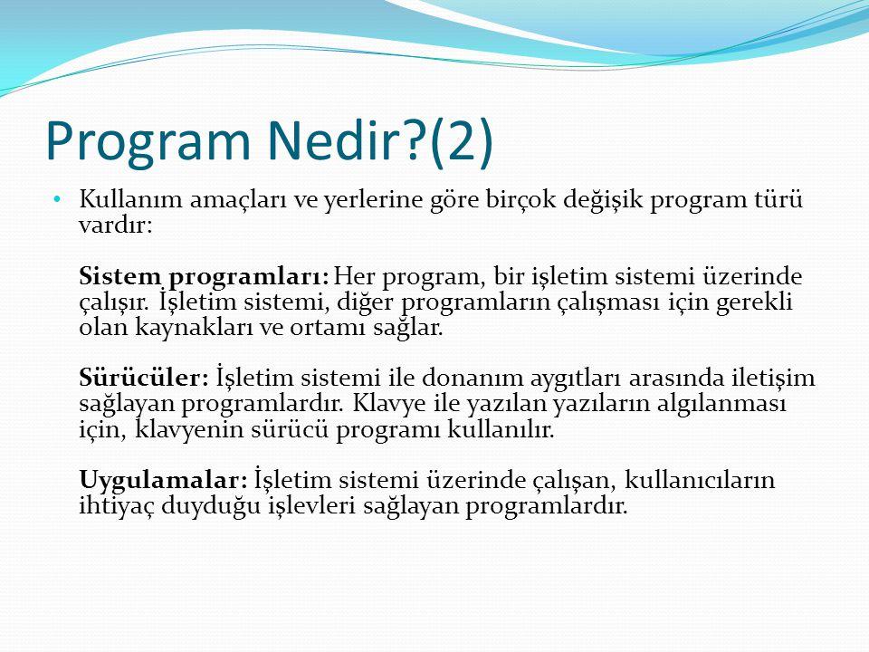 Program Nedir (2)