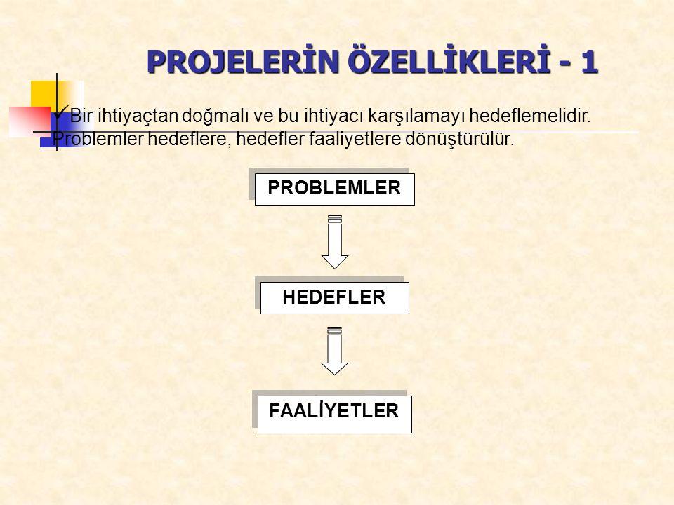 PROJELERİN ÖZELLİKLERİ - 1