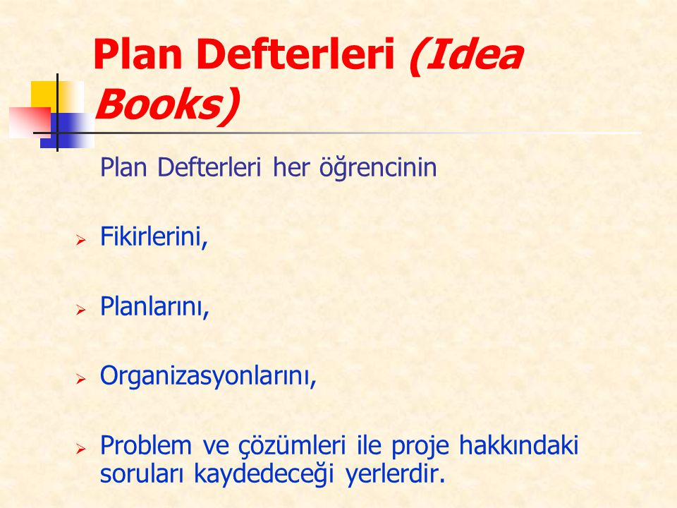 Plan Defterleri (Idea Books)