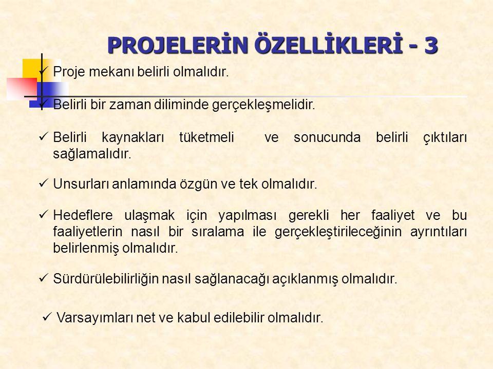PROJELERİN ÖZELLİKLERİ - 3