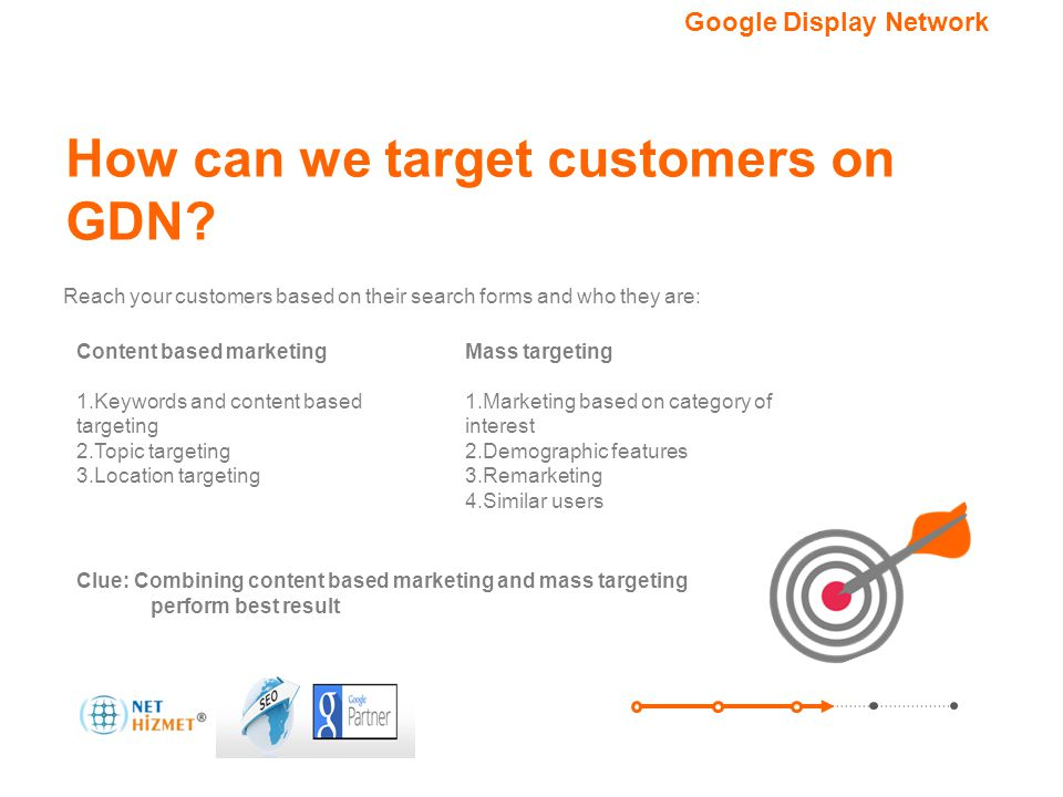 How can we target customers on GDN